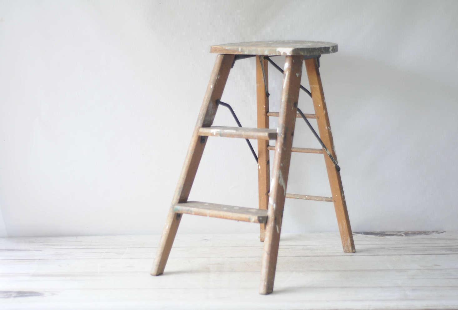 Etsy Storage Folding Ladders Paint Splatters Included