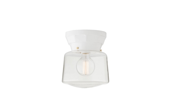 From Schoolhouse Electric, a Norfolk ceiling fixture with a 4-inch fitter is suitable for use in damp locations. It is $9 (shade sold separately).