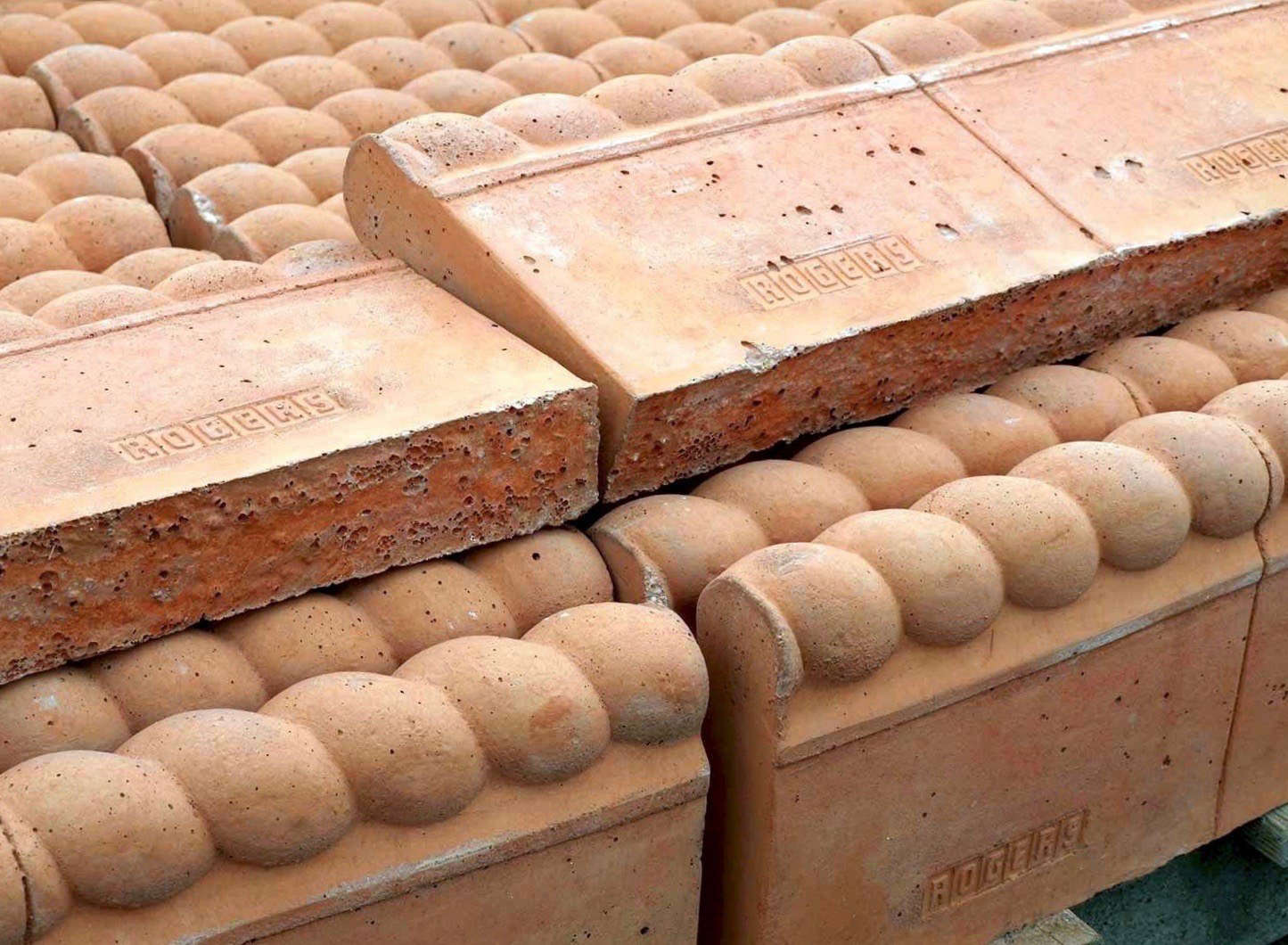 with a rope top pattern terracotta edging is 6 from hampshire garden supplies - Garden Tiles