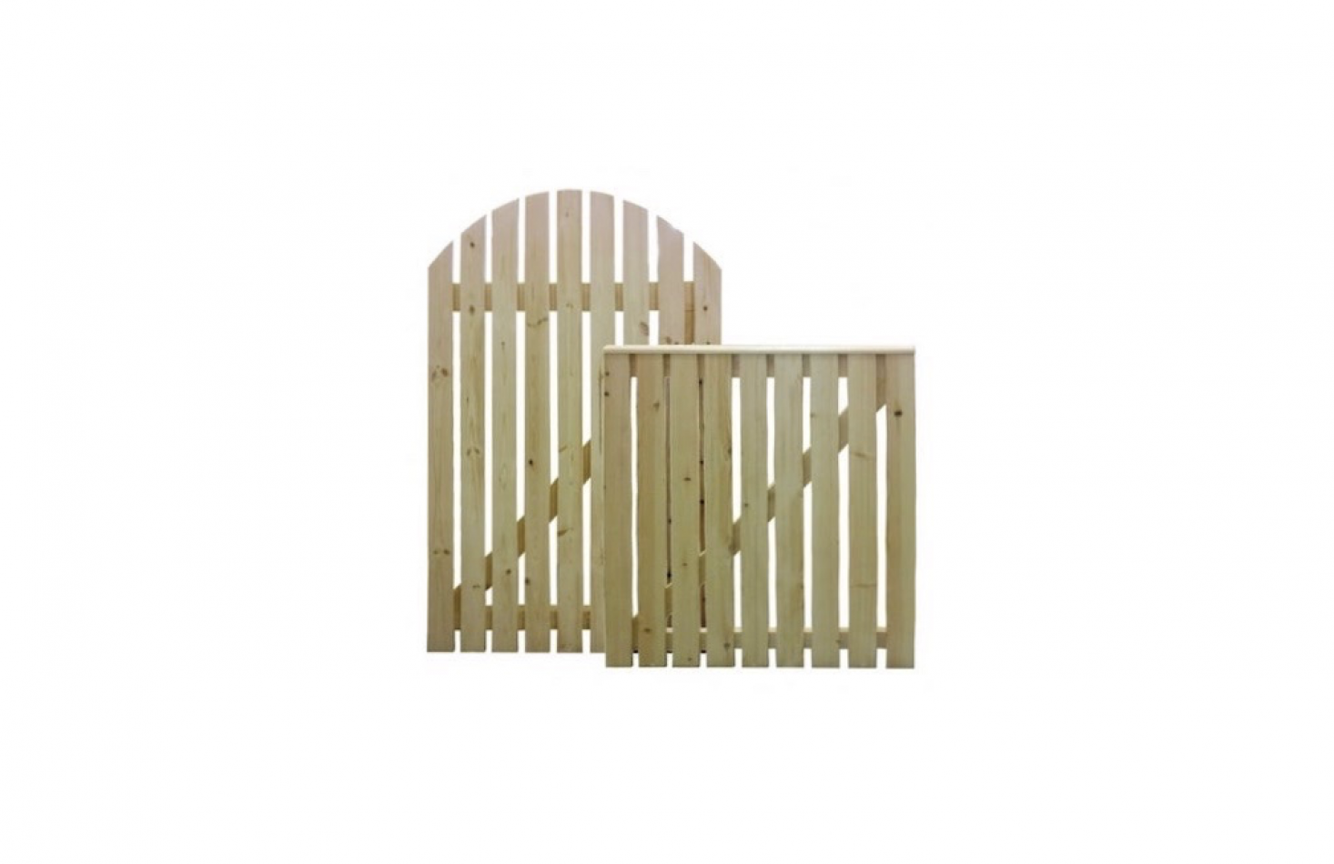 Delightful A Pine Wood Picket Gate With Either A Straight Or Rounded Arch Top Is  Available In