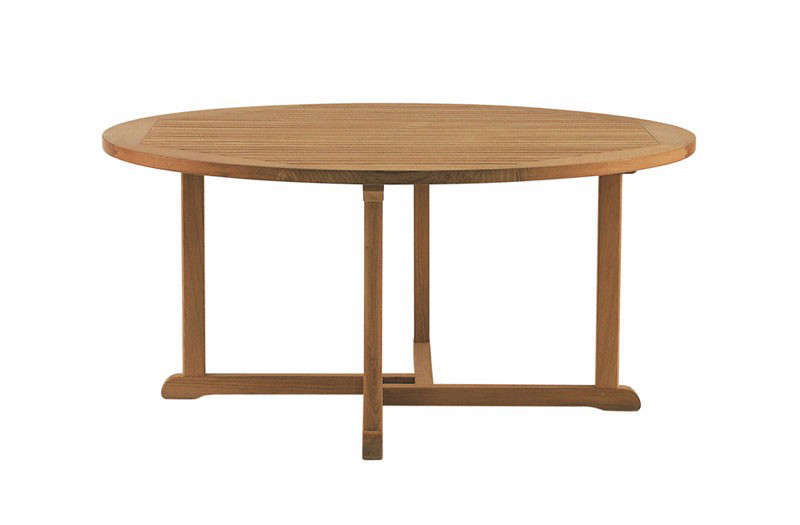 Outdoor Table For 10 Part - 29: 10 Easy Pieces: Round Wood Outdoor Dining Tables