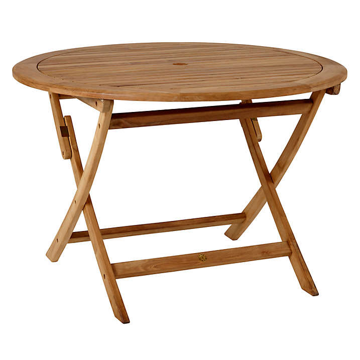 Round 4 Seat Outdoor Teak Dining Table Gardenista