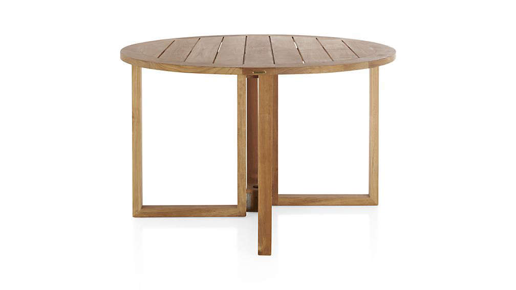 10 easy pieces round wood outdoor dining tables