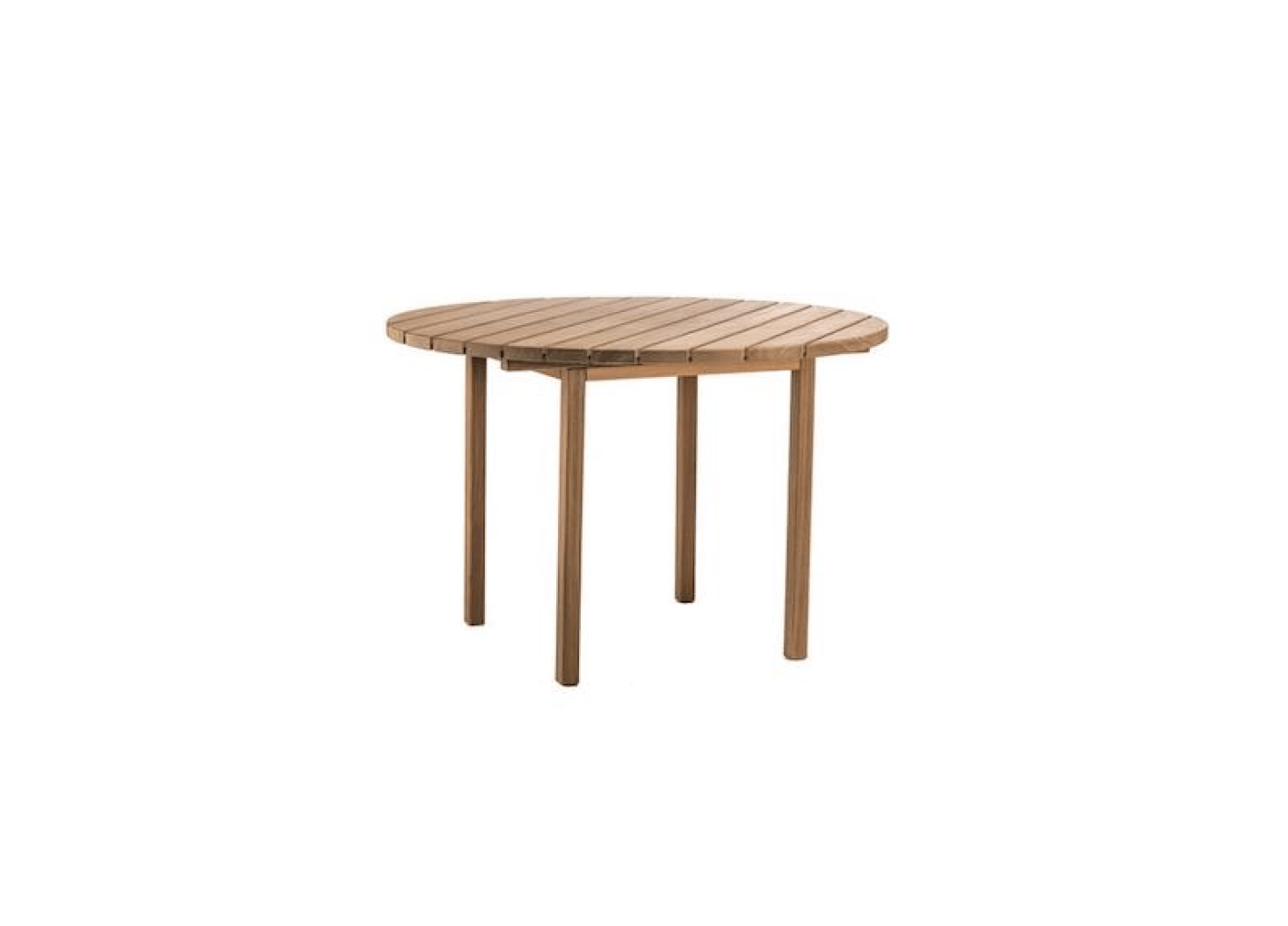 Round outdoor table Umbrella Djuro Round Dining Table Designed By Matilda Lindblom For Skargaarden Measures 4331 In Gardenista 10 Easy Pieces Round Wooden Dining Tables Gardenista