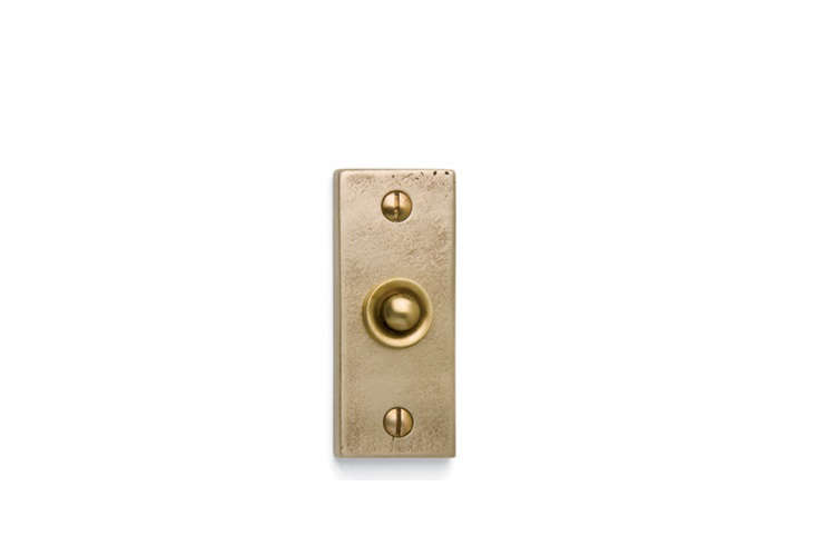 Rectangular Contemporary Door Bell Sun Valley Bronze