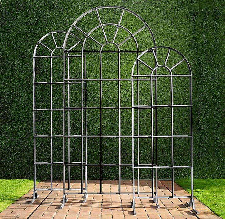 Iron Garden Trellis Arch Panels Gardenista