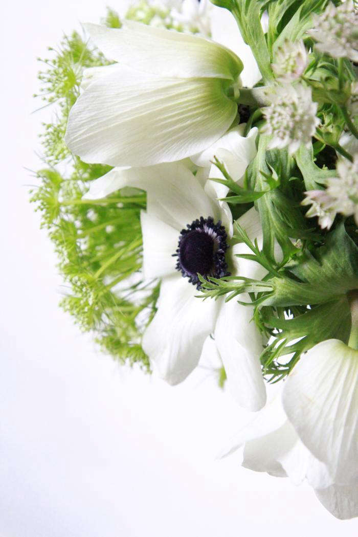 Bouquet of the week splurge on black and white anemones gardenista finding anemones in a florists cooler can be difficult if you dont know what youre looking for in the cold anemones close themselves up hiding their mightylinksfo