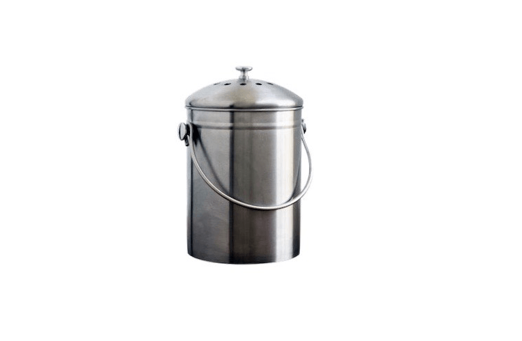 a stainless steel compost bin from natural home is from target