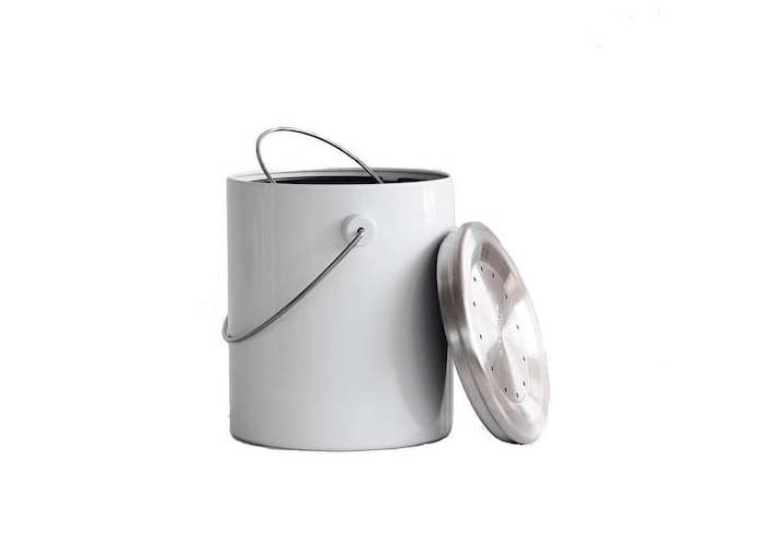 A White Hudson Compost Caddy Is $89 NZ At Father Rabbit.