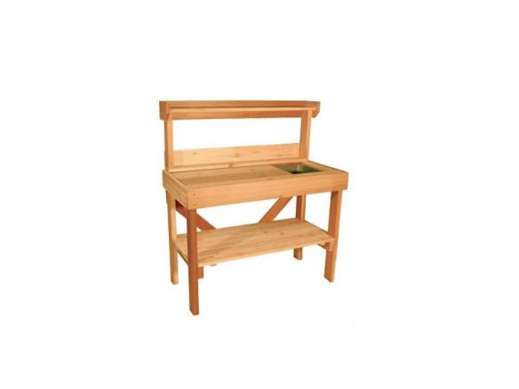 Super Cedar Wood Potting Bench With Sink Inzonedesignstudio Interior Chair Design Inzonedesignstudiocom