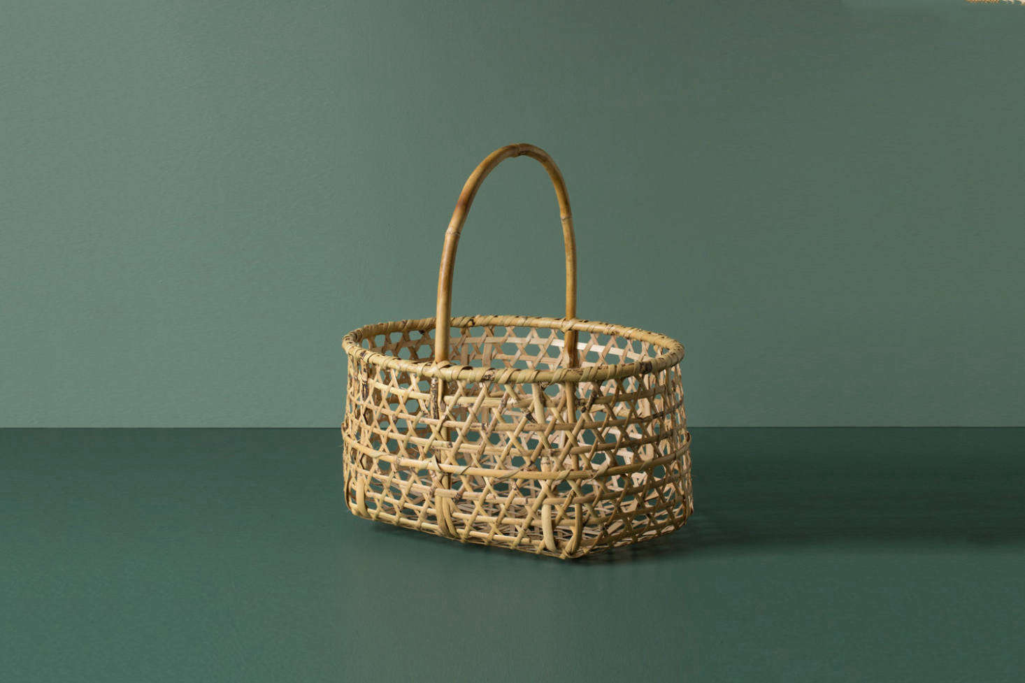 The Japanese Craft Apple Farmer's Basket is handwoven in bamboo for $185 at Everyday Needs.