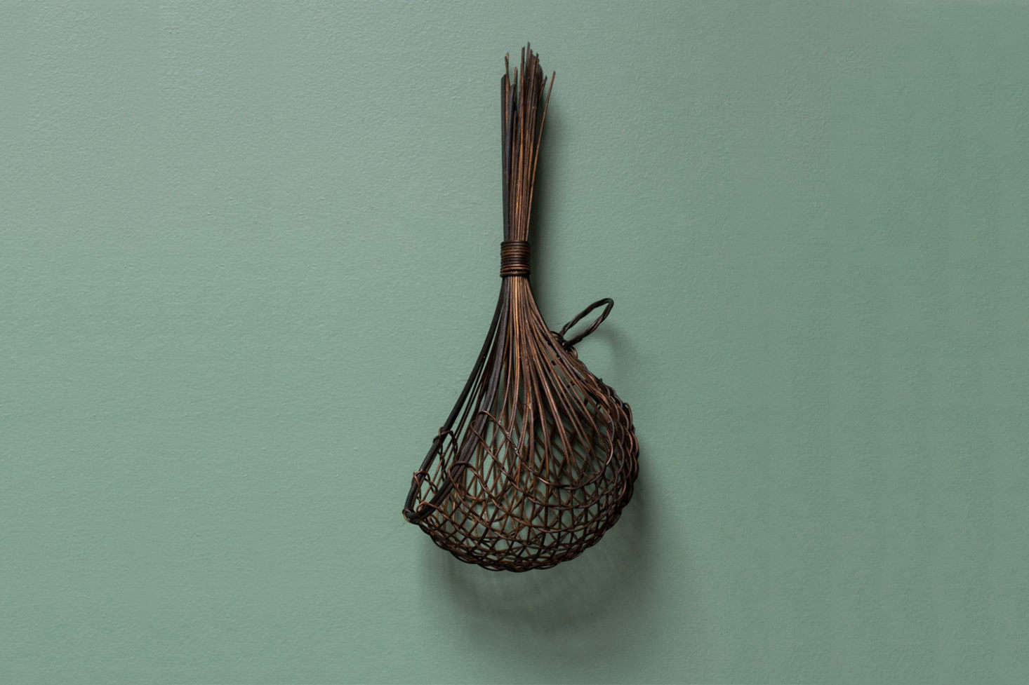 Working with dyed jute and cane, Auckland artist Ruth Castle weaves Black Garlic Baskets in three sizes starting at $139 for the smallest size. For availability (it's currently sold out), contact Everyday Needs who works with Ruth Castle directly.