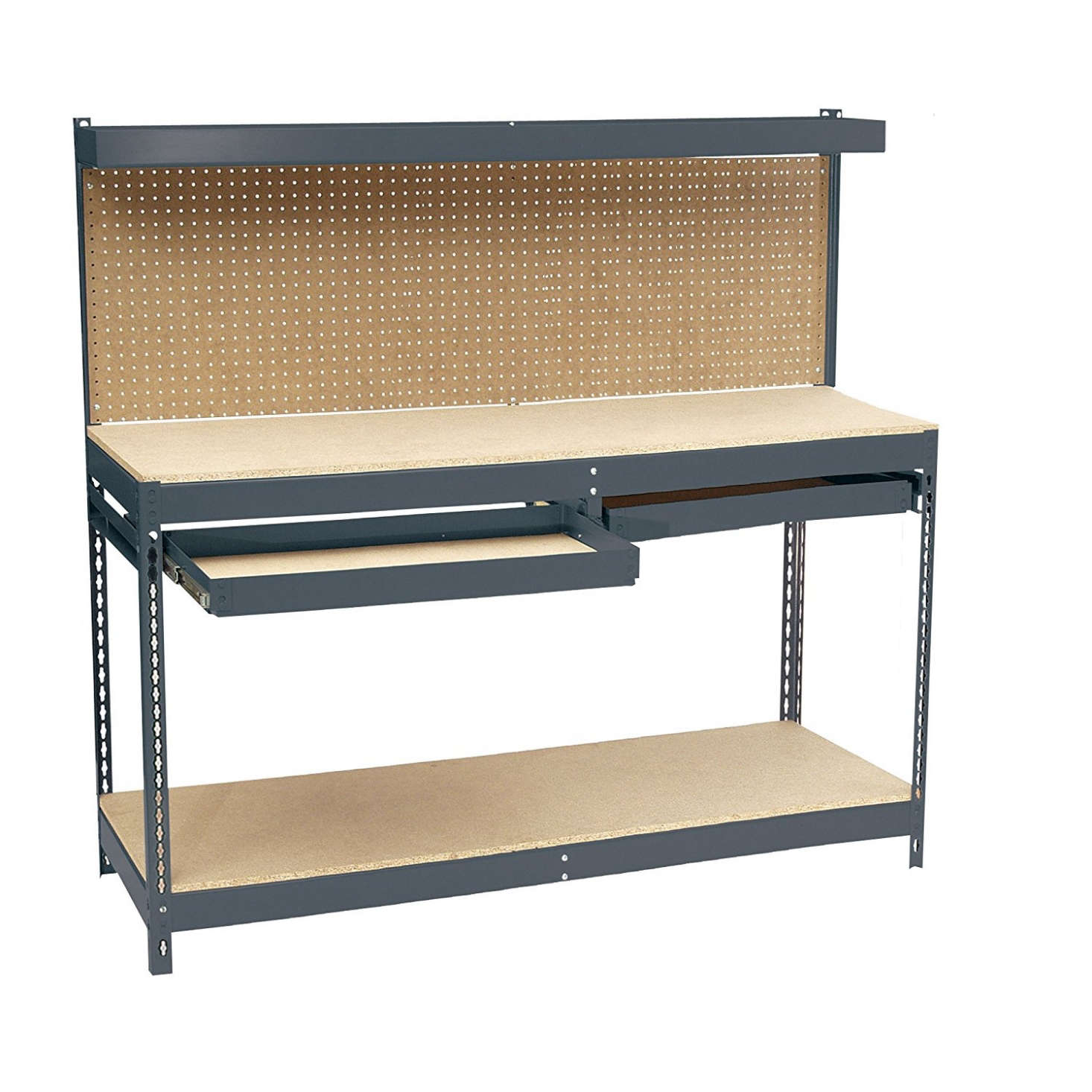 The Edsal Heavy Duty Steel Workbench doubles as a counter and storage. It features a  sc 1 st  Gardenista & 5 Quick Fixes: Garage Storage Units - Gardenista