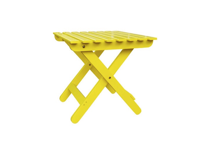 yellow folding side table lowes