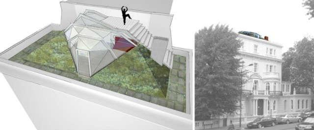 鲁德维奇:伦敦市中心的一个房间,在办公室里,在一个空的地方,被称为壁炉