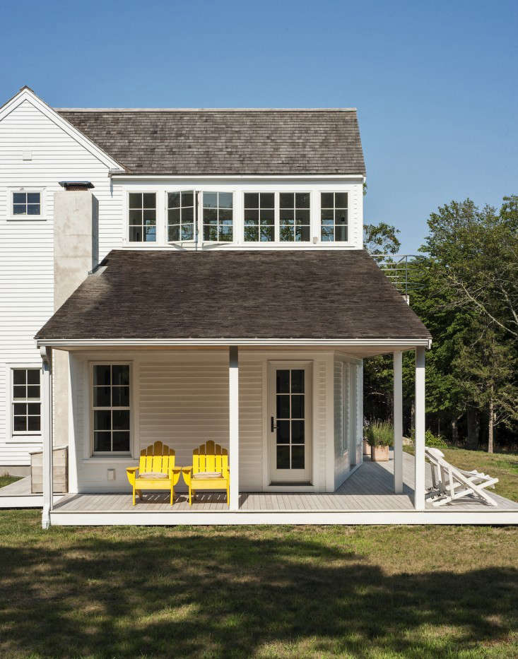 Coastal meets country at architect Sheila Narusawa's house in Wellfleet, on Cape Cod. See more of her home and garden inArchitect Visit: A Kitchen Garden on Cape Cod. Photograph by Matthew Williams.