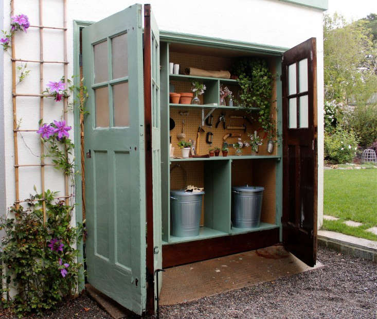 My own garden shed is miniature, a mere  inches deep. It&#8