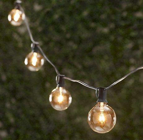 Glass Globe String Lights Restoration Hardware : 10 Easy Pieces: Cafe-Style Outdoor String Lights - Gardenista