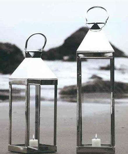 Roost Jumbo Nickel Candle Lanterns