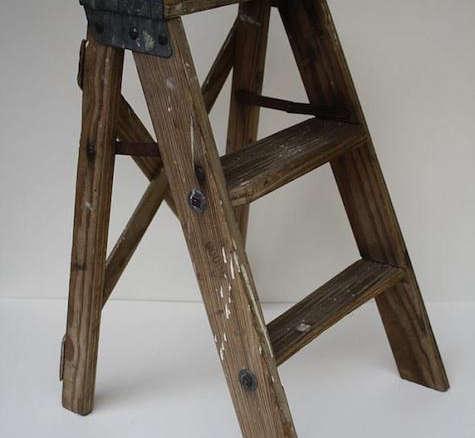 Diy Step Ladder As Bedside Table Gardenista