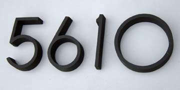 10 Easy Pieces Modernist Metal House Numbers Gardenista