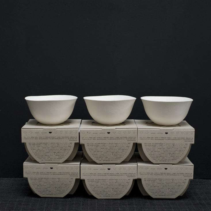 Above The paper goods stack efficiently; prices range from a set of 6 Bowls for $12 to a set of 8 Plates for $14 at Cloth and Goods. : wasara tableware - pezcame.com
