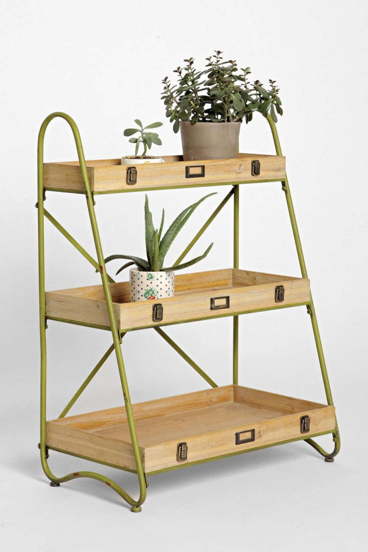 Above: An Industrial Style Metal Tiered Ladder Shelf With Three Wooden  Shelves Measures 33.25 Inches High By 25.25 Inches Wide And 14 Inches Deep  And Is $98 ...