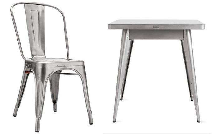 700 tolix marais table and chair dwr. Hardscaping 101  How to Care for Metal Patio Furniture   Gardenista