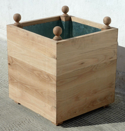 Charming Above: Made In The US Of White Oak, The Rustic Wood Planter Is A Classic  Orangerie Style Planter Box Stripped Down. It Comes In A Natural Finish  With A ...
