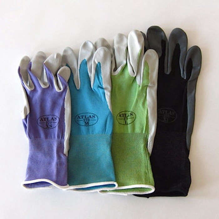 Above: The Seamless Atlas Nitrile Gardening Gloves With A Breathable Knit  Back; Available In Four Colors And In A Range Of Sizes.