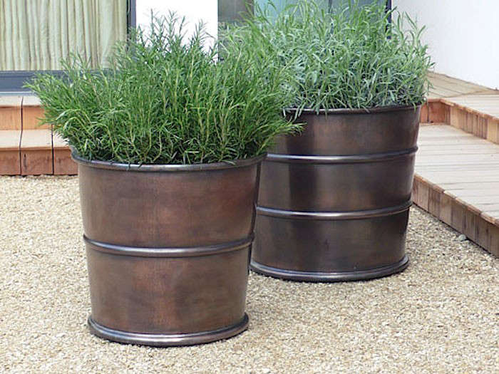 10 Easy Pieces Bronze Garden Planters Gardenista