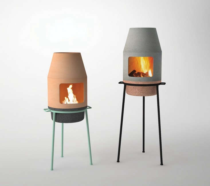 Great Above: The Portable Fireplace Is Designed To Bring People Together In The  Same Way As A Traditional Wood Stove. Designed For An Ethanol Burner, ...