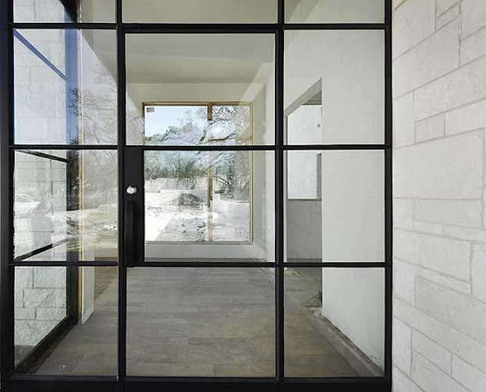 french door entry portella iron doors remodelista - Metal Frame Windows