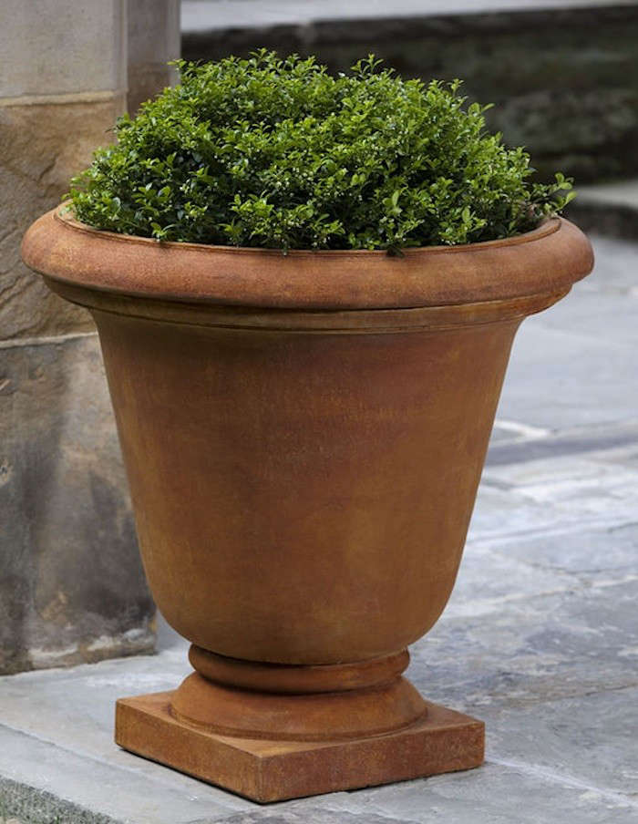 Beautiful Above: The Simple But Stately Hampton Garden Urn Is Made In The USA Of Cast  Stone With A Ferro Rustico Finish. Twelve Choices Of Finishes Are Available.