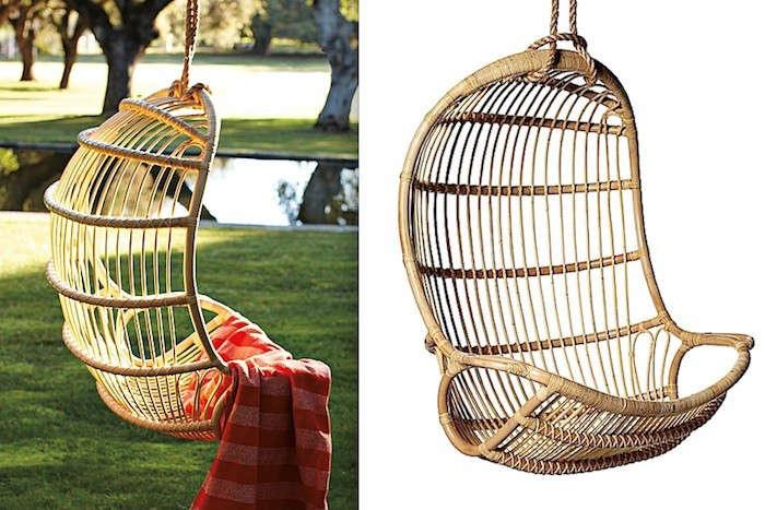sc 1 st  Gardenista & Hanging Rattan Chair