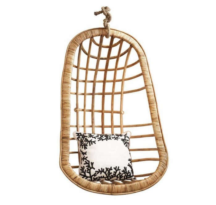 Two S Company Hanging Rattan Chair