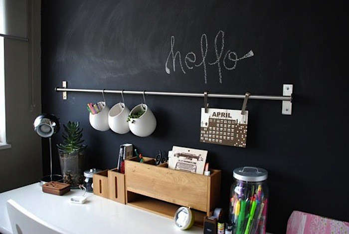 hanging office organizer. Above: Stoneware Containers Hang On S-hooks (a Five-pack Of Grundtal S-Hooks Is $2.99 From Ikea) A Simple Rail To Lift Supplies And Greenery Off The Hanging Office Organizer