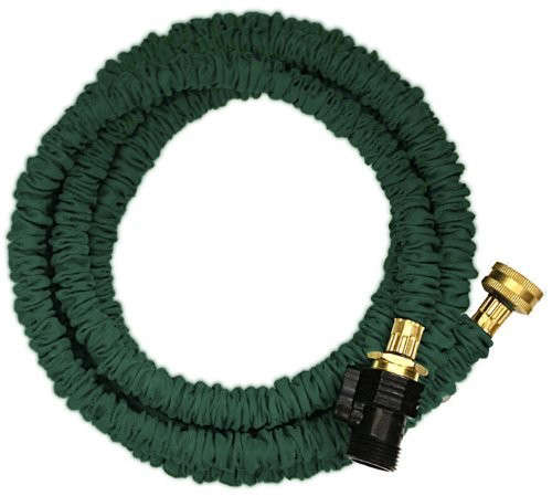 expanding garden hose. Above: Available In Green, A Jhose Expandable Water Hose Comes Lengths From 25 To 75 Feet And With Either Brass Or Plastic Connectors. Expanding Garden E