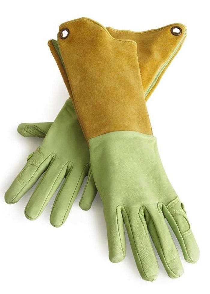 best gardening gloves. Above: Designed Especially For Women\u0027s Hands, The Pallina Glove Is Made Of Washable Goatskin Leather And Boar Hide. Kevlar Thread Stitching Best Gardening Gloves O