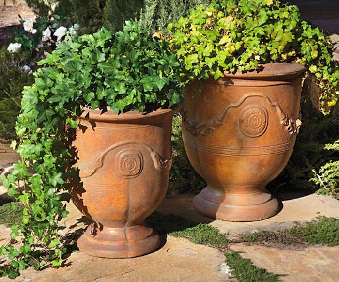 Perfect Above: The Heavyweight Terrazzino Garden Urns Are Handmade In The USA Using  Durable Cement, Original Molds, And Careful Smoothing And Finishing.