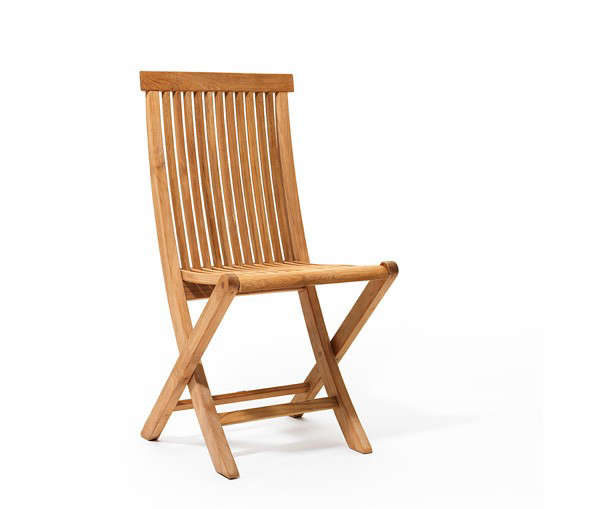 above designed by gunilla norin a viken folding chair is made entirely of teak except for a couple of tiny screws for pricing and information
