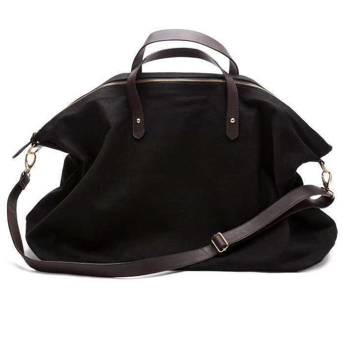 Cuyana Canvas and Leather Weekender Bag