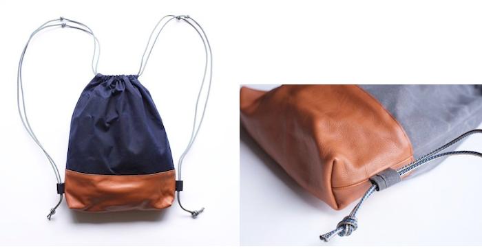 Wax Canvas Sensible Drawstring Backpack