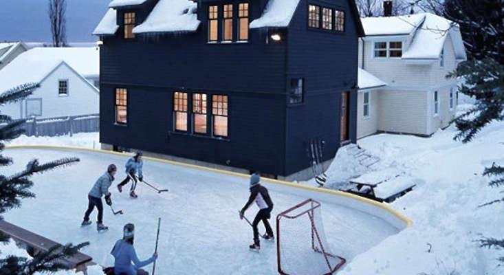 Backyard Skating Ice Rink Gardenista
