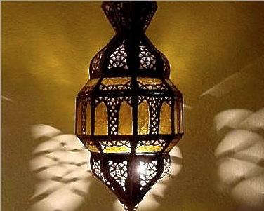 Charming Above: A Moroccan Glass Hanging Lantern, 23 Inches High: $110.50 At Badia  Design.