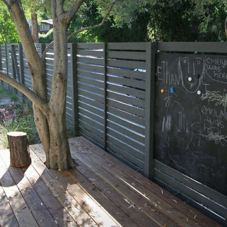 horizontal wood slat fence. Perfect Horizontal Blackhorizontalslatfencechalkboardgardenista Intended Horizontal Wood Slat Fence