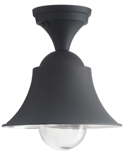 10 easy pieces black porch ceiling lights gardenista above a matte black industrial style ceiling light from tuscany based designer terme is made of durable gravity die cast aluminum and has a blown glass aloadofball Choice Image