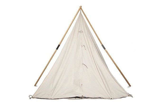 Above Suitable for c&ing or backyard sleepovers a Handmade Canvas Range Tent made of 100% cotton comes with a zippered flap oak stakes ...  sc 1 st  Gardenista & 10 Easy Pieces: Canvas Teepee Tents - Gardenista