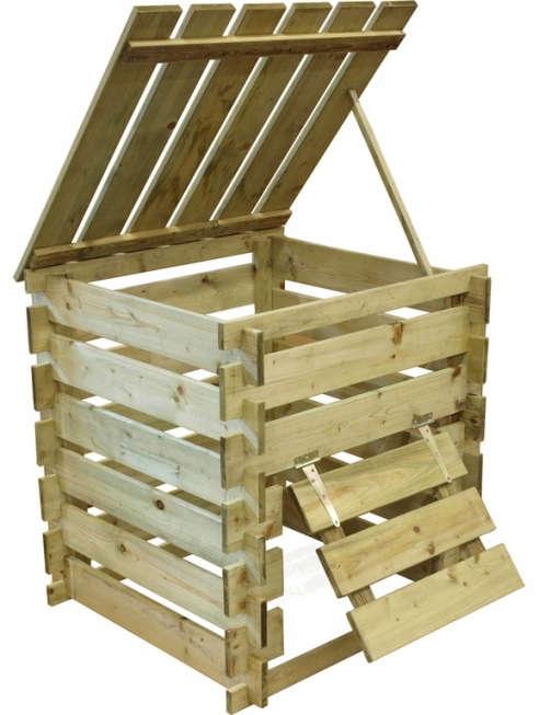 Composting Wood Bin