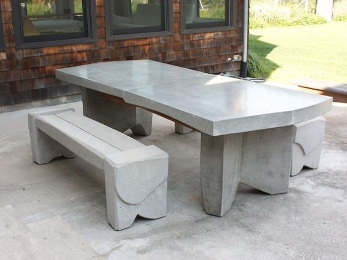 10 easy pieces concrete outdoor furniture